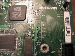 lpc header on xbox motherboard