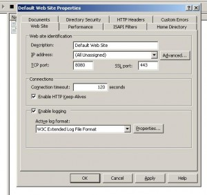 Web Site Identification Dialog Box