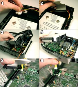 Xbox internal cable disassembly