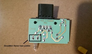 Soldering Point of the Lamp on Module F81B-14B268-AD